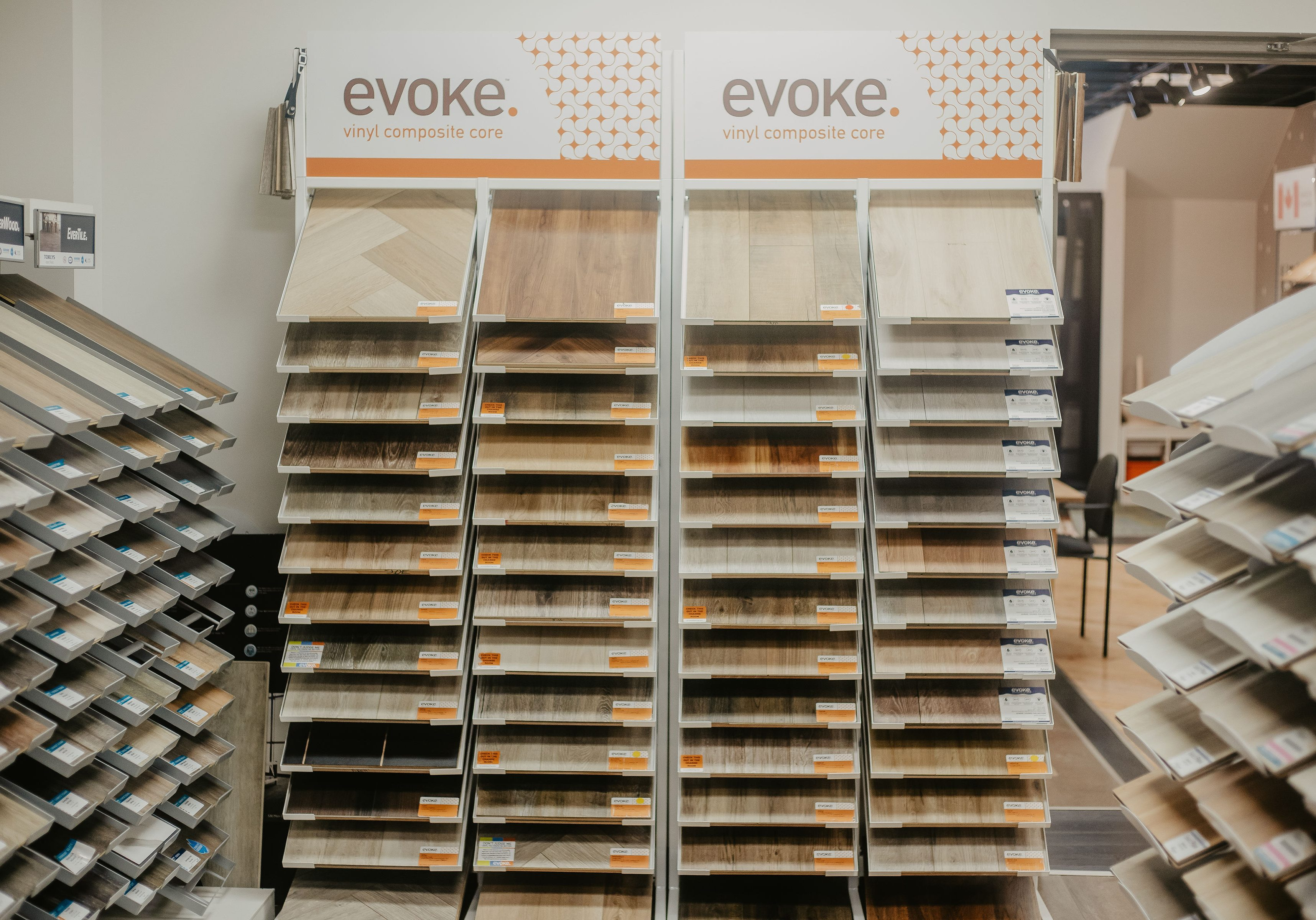 Variety of flooring products in showroom | BFC Flooring Design Centre